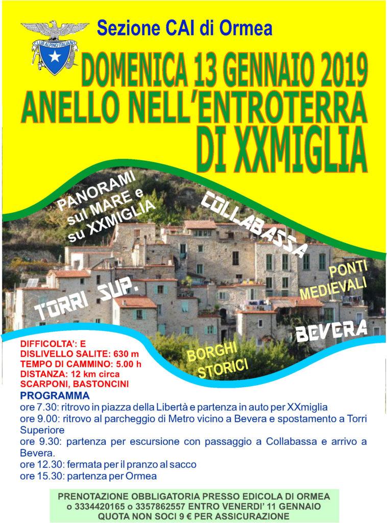 locandina 2019 Bevera XXmiglia