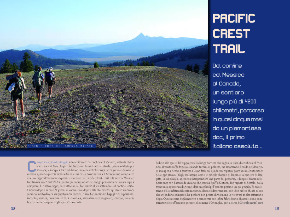 Alpidoc 75, Pacific Crest Trail