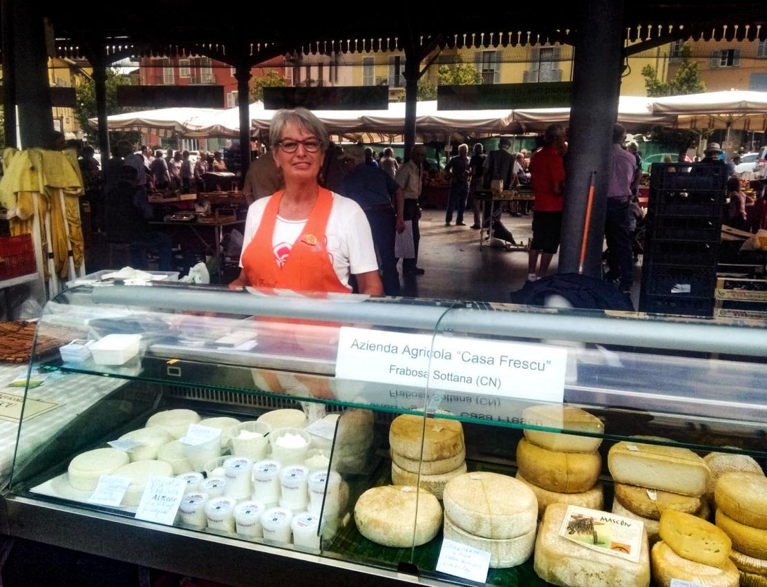 Margherita al mercato di Mondovì